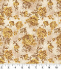 Premium Wide Cotton Fabric 108\u0022-Large Floral Yellow