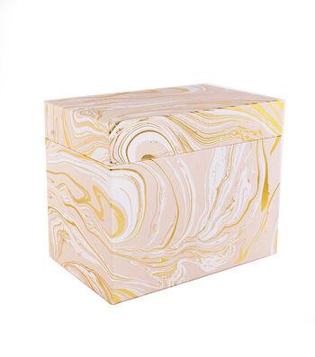 Park Lane Card Storage Box-Marble