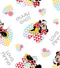 Disney Minnie Mouse Flannel Fabric -Love