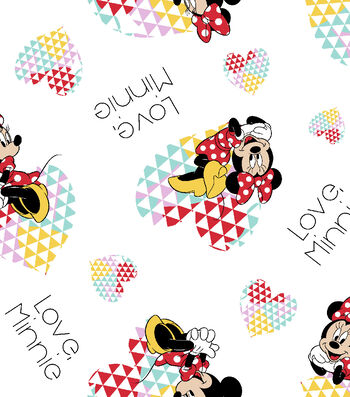 """Disney® Minnie Mouse Flannel Fabric 42""""-Love"""