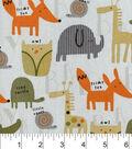 Nursery Cotton Fabric -Allover Animal