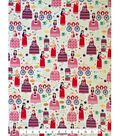 Doodles Juvenile Apparel Fabric 57\u0027\u0027-Pink Princess on White