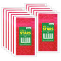 3/4\u0022 Red Presto-Stick Foil Star Stickers 12 Packs