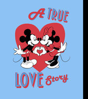 Disney Mickey & Minnie No Sew Fleece Throw Fabric-A True Love Story, , hi-res