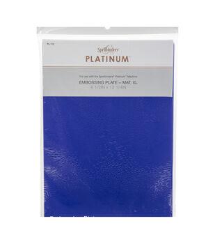 Spellbinders Platinum XL Embossing Plate + Mat