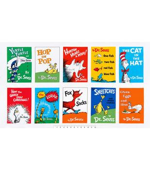 "Dr. Seuss Cotton Fabric 44""-Book Cover Panel"