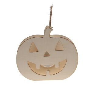 Maker's Halloween Craft 5.7''x 4.8'' LED Pumpkin Ornament