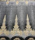Casa Embellish Dahlia Mesh Sequin Fabric-Romantic Black