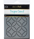 Deco Foil 6\u0027\u0027x8\u0027\u0027 Designer Stencil-Abstract Circles