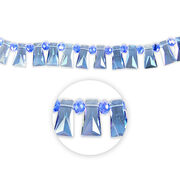 "Blue Moon Beads Strand 7"" Cut Crystal Trapezoid, Blue AB Facetted, , hi-res"