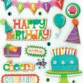 K&Company Dimensional Embellishments-Birthday Wishes