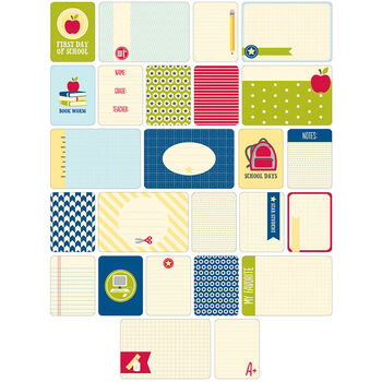Project Life Themed Cards 60/Pkg-School