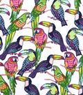 Snuggle Flannel Fabric 42\u0022-Tropical Toucans