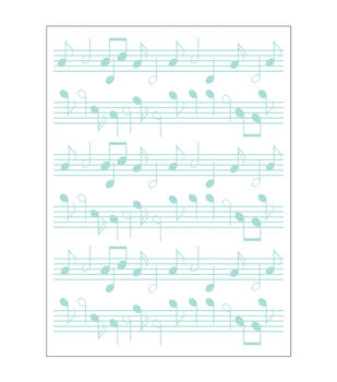 Park Lane A2 Embossing Folder-Music Notes