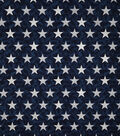 Patriotic Cotton Fabric-Décor Star on Blue Foil