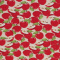 Novelty Cotton Fabric-Painted Apples