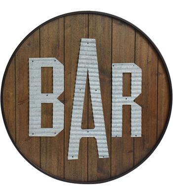 Wooden Wall Decor 24''x24''-Bar