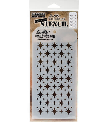 Stampers Anonymous Tim Holtz 4.13''x8.5'' Layering Stencil-Starry