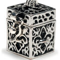 Darice Prayer Box Charm-Antique Silver Fleur De Lis