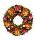 Fresh Picked Spring 18\u0027\u0027 Wood Chip Flower Wreath-Multi