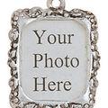 Blue Moon Metal Photo Frame Charm-3PK/Silver