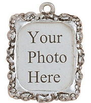 Blue Moon Metal Photo Frame Charm-3PK/Silver, , hi-res