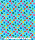 Novelty Cotton Fabric -Rainbow Tiny Fish