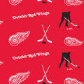 Detroit Red Wings Fleece Fabric -Tossed