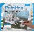 15-1/4\u0027\u0027x11-1/4\u0027\u0027 Junior Paint By Number Kit-White Tigers In The Mist