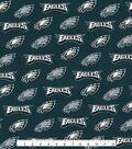 Philadelphia Eagles Cotton Fabric -Silver Glitter