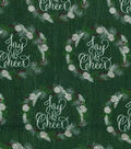 Christmas Cotton Fabric-Joy & Cheer Wreaths