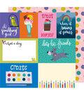 American Crafts Box of Crayons 25 pk 12\u0027\u0027x12\u0027\u0027 Cardstock-Treat Yourself