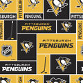 Pittsburgh Penguins Cotton Fabric -Block