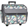 Everything Mary 4-wheel Rolling Sewing Case-Floral