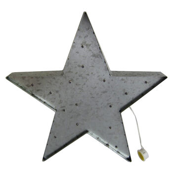 Americana Patriotic Large Galvanized LED Star