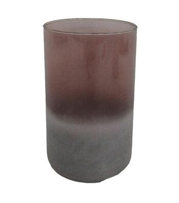 Blooming Autumn Medium Glass Vase-Tonal Burgundy