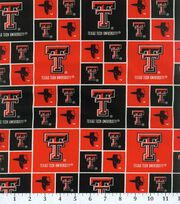 "Texas Tech University Red Raiders Cotton Fabric 43""-Block, , hi-res"