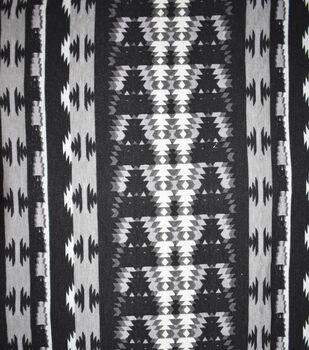 Fast Fashion Spandex Fabric-Black & Grey Aztec