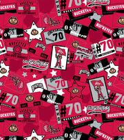 """Ohio State University Buckeyes Cotton Fabric 43""""-Emblem, , hi-res"""
