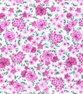 Nursery Flannel Fabric -Pink Floral
