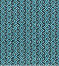 Modern Cotton Fabric -Blue Ribbons