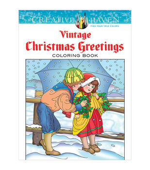 dover creative haven vintage christmas coloring book