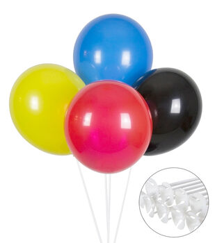 Balloon Kit-Multi Colored with Straws