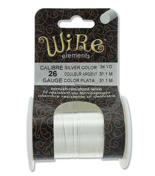 Wire Elements 26 Gauge 34yds Tarnish-Resistant Wire-Silver