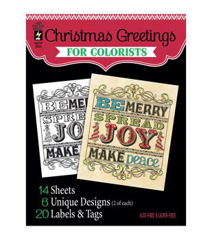 Adult Coloring Book Hot Off The Press Christmas Greetings
