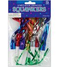 Metallic Fringed Squawkers 8/Pkg-Assorted Colors