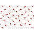 Snuggle Flannel Fabric -Cardinals on Vines