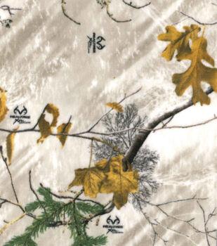 Realtree Fleece Fabric 58''-Snow