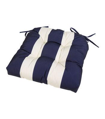 Americana Patriotic Cushion-Navy & White Stripe