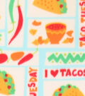 Blizzard Fleece Fabric -Taco Tuesday Patchwork